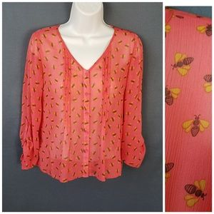 4 for $10- small mossimo bee blouse